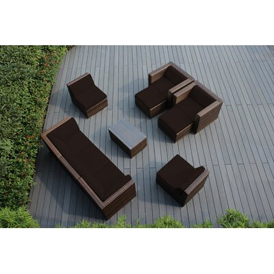 Ohana 10 Piece Deep Seating Group with Cushions Fabric: Sunbrella Bay Brown