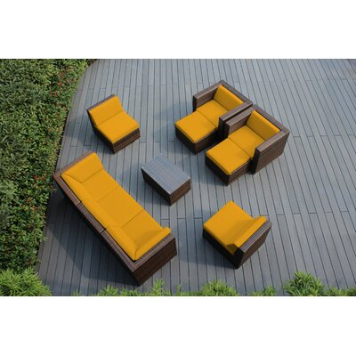 Ohana 10 Piece Deep Seating Group with Cushions Fabric: Sunbrella Sunflower Yellow