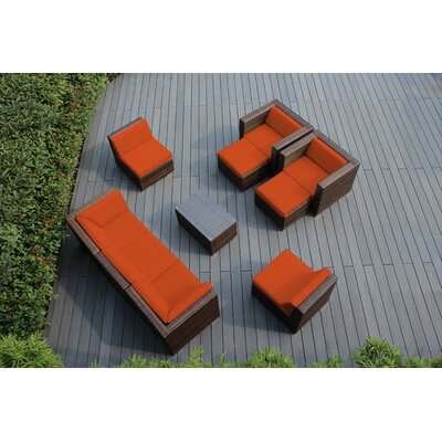 Ohana 10 Piece Deep Seating Group with Cushions Fabric: Sunbrella Tuscan