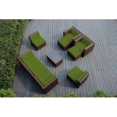 Ohana 10 Piece Deep Seating Group with Cushions Fabric: Sunbrella Macaw