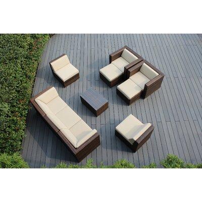 Ohana 10 Piece Deep Seating Group with Cushions Fabric: Beige