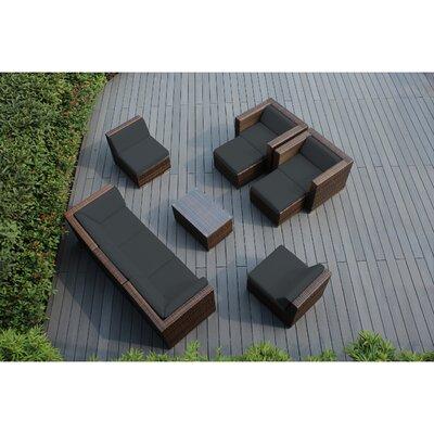 Ohana 10 Piece Deep Seating Group with Cushions Fabric: Dark Gray