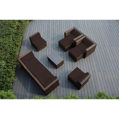 Ohana 10 Piece Deep Seating Group with Cushions Fabric: Brown