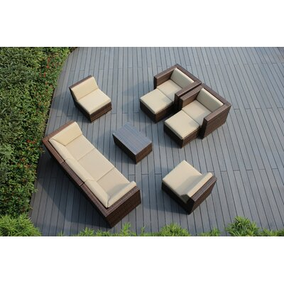 Ohana 10 Piece Deep Seating Group with Cushions Fabric: Sunbrella Antique Beige