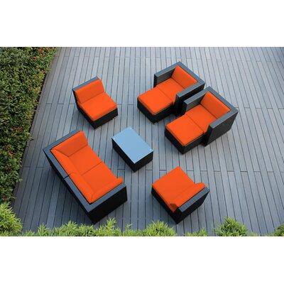 Ohana 9 Piece Deep Seating Group with Cushions Fabric: Sunbrella Tuscan
