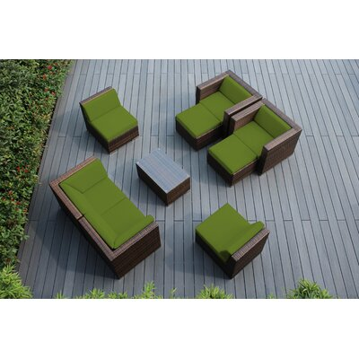 Ohana 9 Piece Deep Seating Group with Cushions Fabric: Sunbrella Macaw