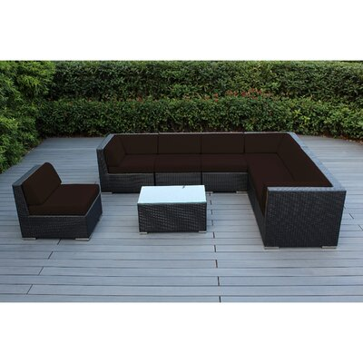 Ohana 8 Piece Seating Group with Cushions Fabric: Sunbrella Bay Brown