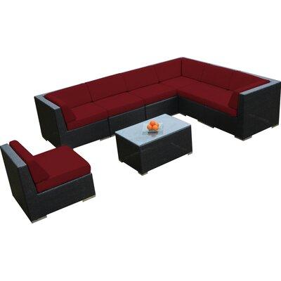 Ohana 8 Piece Seating Group with Cushions Fabric: Sunbrella Jockey Red
