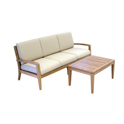 Ohana Teak 2 Piece Deep Seating Group with Cushion