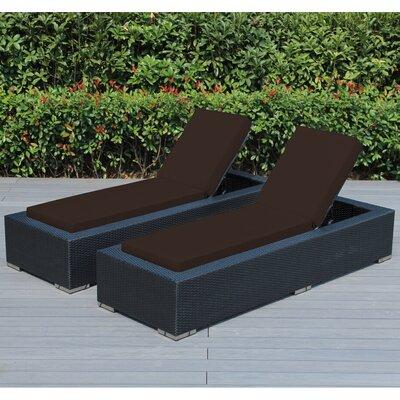 Madelynn Chaise Lounge Fabric: Sunbrella Bay Brown