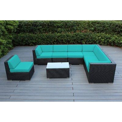 Brayden Studio Kiara 8 Piece Deep Seating Group with Cushion