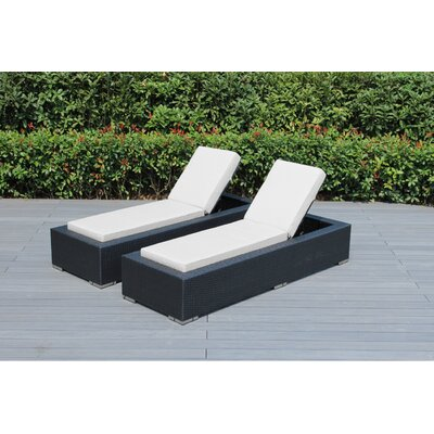Madelynn Chaise Lounge Fabric: Sunbrella Natural