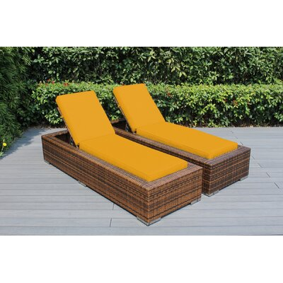 Ohana Chaise Lounge with Cushion Fabric: Sunbrella Sunflower Yellow