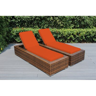 Ohana Chaise Lounge with Cushion Fabric: Sunbrella Tuscan