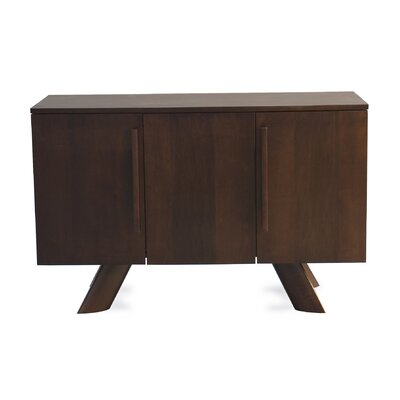 Tylor Contemporary Wood Server Color: Flax
