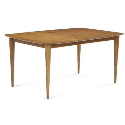 Cona Dining Table Finish: Walnut, Table Top: Strata Top