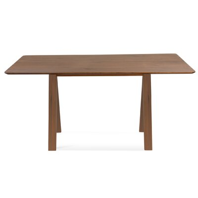Jermey Wood Dining Table Finish: Flax, Table Top: Strata Top