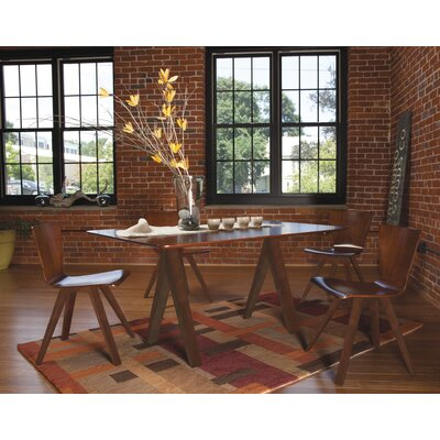 Jermey Rectangular Dining Table Finish: Harvest, Table Top: Strata Top