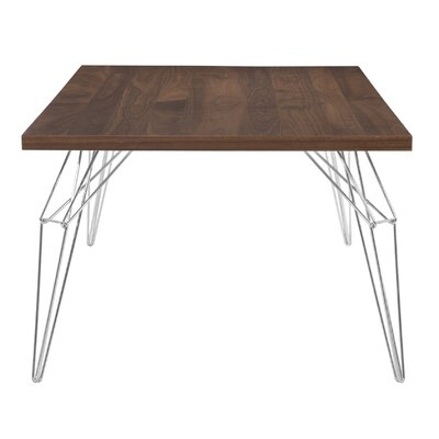 LEM 72 x 92 Extendable Dining Table Finish: Walnut, Size: 29 H x 36 W x 48 D