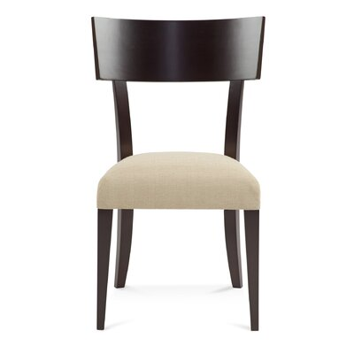 Sofian Wood Side Chair in Linen Color: Walnut