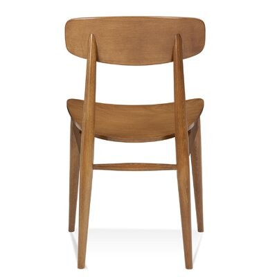 Tylor Modern Solid Wood Dining Chair Finish: Walnut