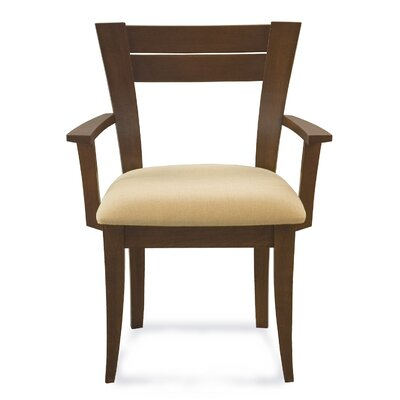 Bence Arm Chair Upholstery: Mushroom, Finish: Nantucket