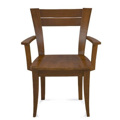 Tylor Solid Wood Arm Dining Chair Finish: Java