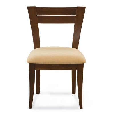 Bence Side Chair Finish: Nantucket, Upholstery: Raisin