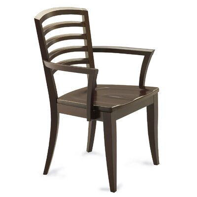 Marcantonio Solid Wood Dining Chair Color: Shadow