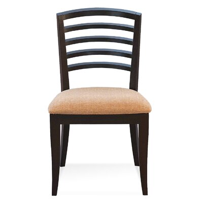 Sofian Wood Side Chair in Ramie Color: Walnut
