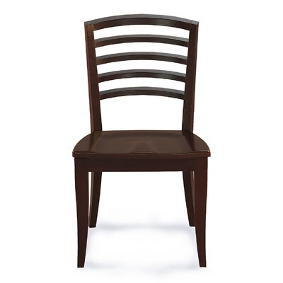 Sofian Contemporary Solid Wood Dining Chair Finish: Java