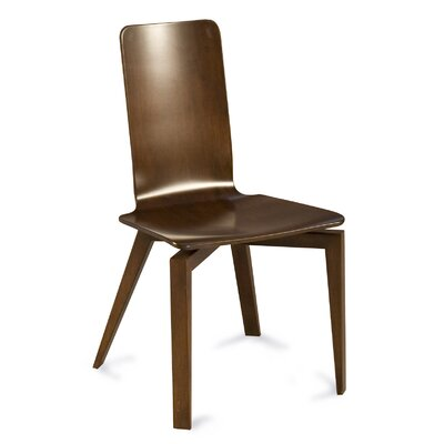 Tylor Solid Maple Wood Dining Chair Finish: Walnut