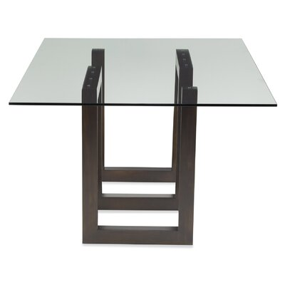 Stines Dining Table Base Color: Shadow, Size: 29 H x 44 W x 84 D