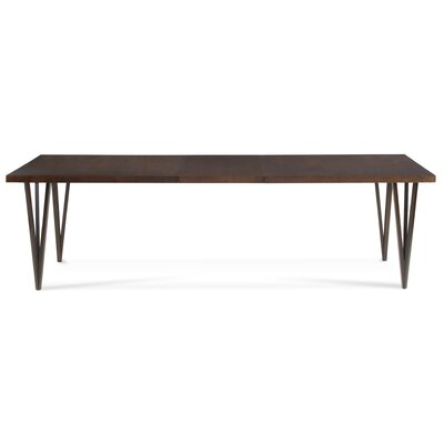 Castelnaud Modern 72 Extendable Dining Table Finish: Slate