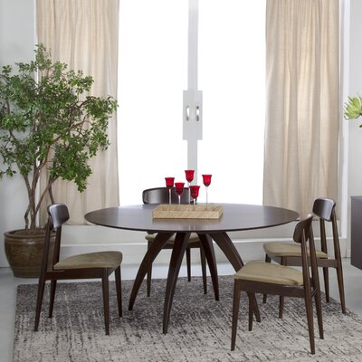 Cade Wood Dining Table Finish: Java, Table Top: Strata Top