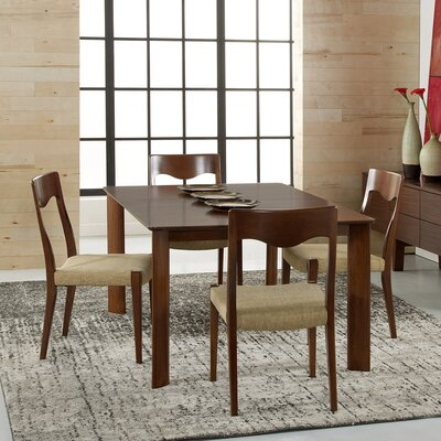 Burhan Extendable Dining Table Finish: Walnut, Table Top: Strata Top, Size: 29 H x 42 W x 72 - 92 D
