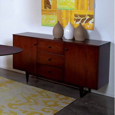 Tylor Wood Sideboard Color: Chocolate