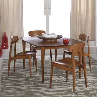 Tylor Cona Extendable Dining Table Finish: Flax, Table Top: Strata Top, Table Size: 29 H x 42 W x 60 D