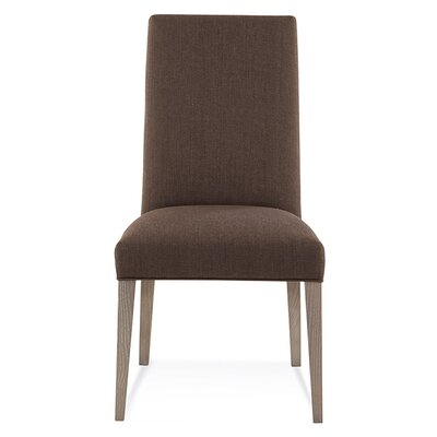 Ajhar Parsons Chair Finish: Nantucket, Upholstery: Linen