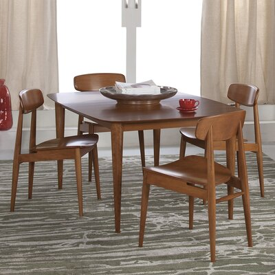 Cona Dining Table Finish: Chocolate, Table Top: Strata Top