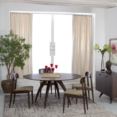 Cade Round Dining Table Finish: Java, Table Top: Strata Top