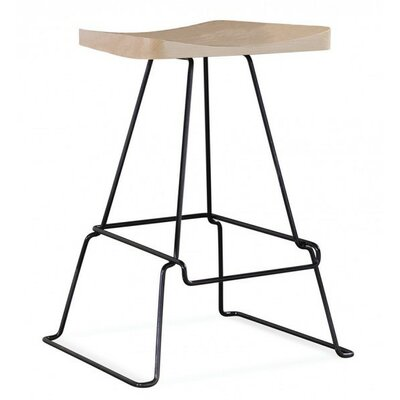 Peter Francis 24 Bar Stool Color: Java, Base Finish: Chrome
