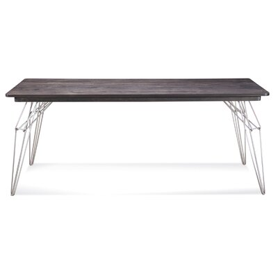 LEM 72 inch x 92 inch Extendable Dining Table Finish: Natural, Size: 29 inch H x 36 inch W x 48 inch D