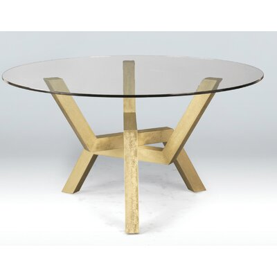 Kaira Glass Top Dining Table Base Finish: Harvest