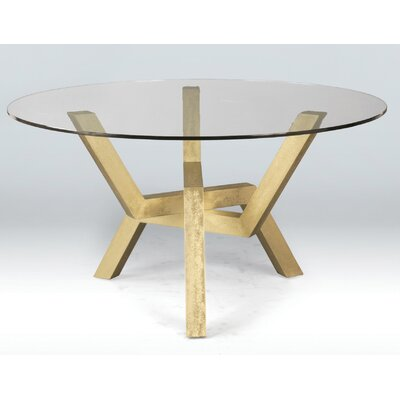 Kaira Dining Table Base Finish: Hammered Silver, Size: 29 H x 48 W x 48 D