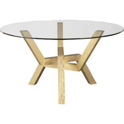 Kaira Dining Table Base Finish: Hammered Gold