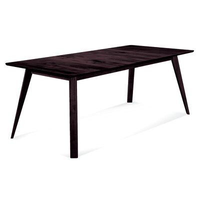 Caterina 72 x 92 Extendable Dining Table Finish: Chocolate, Size: 29 H x 42 W x 60 - 78 D