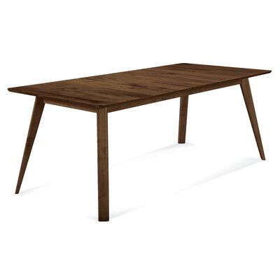 Caterina 72 x 92 Extendable Dining Table Finish: Walnut, Size: 29 H x 42 W x 60 - 78 D