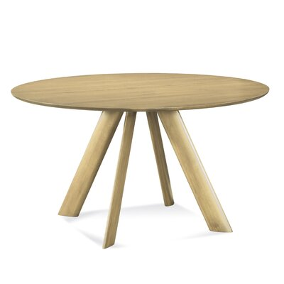 Efren 42 Dining Table Finish: Natural, Size: 29 H x 60 W x 60 D