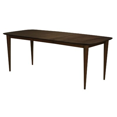 Cona Extendable Dining Table Finish: Java, Table Top: Strata Top